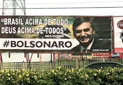Outdoor de Bolsonaro gera polêmica na capital