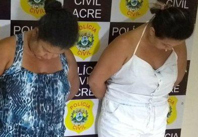 Mãe e filha são presas por tráfico de drogas
