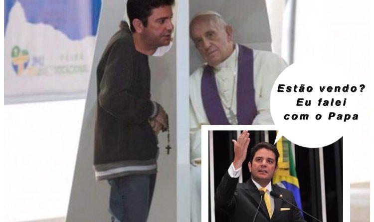 Romeiro de 'ocasião': Senador que não lembra o nome da padroeira da sua cidade pega carona na agenda do Papa