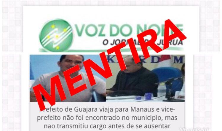 Na ânsia de atacar prefeito do Guajará-AM, jornal comete 'barrigada'
